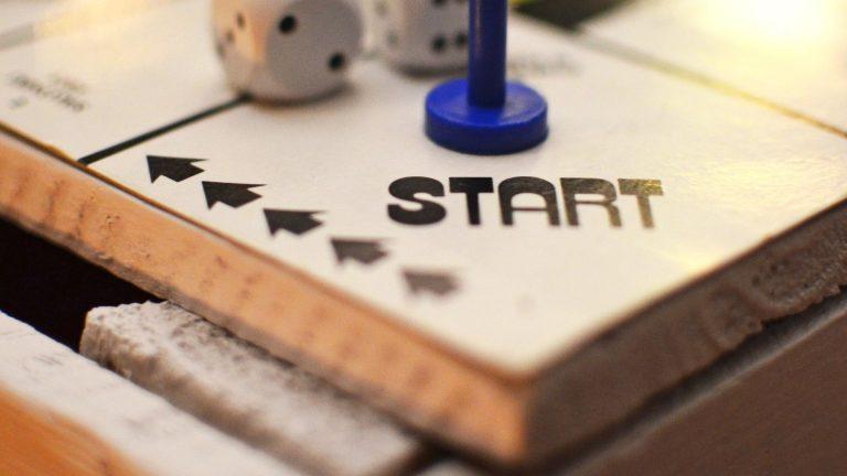 start tile on board game