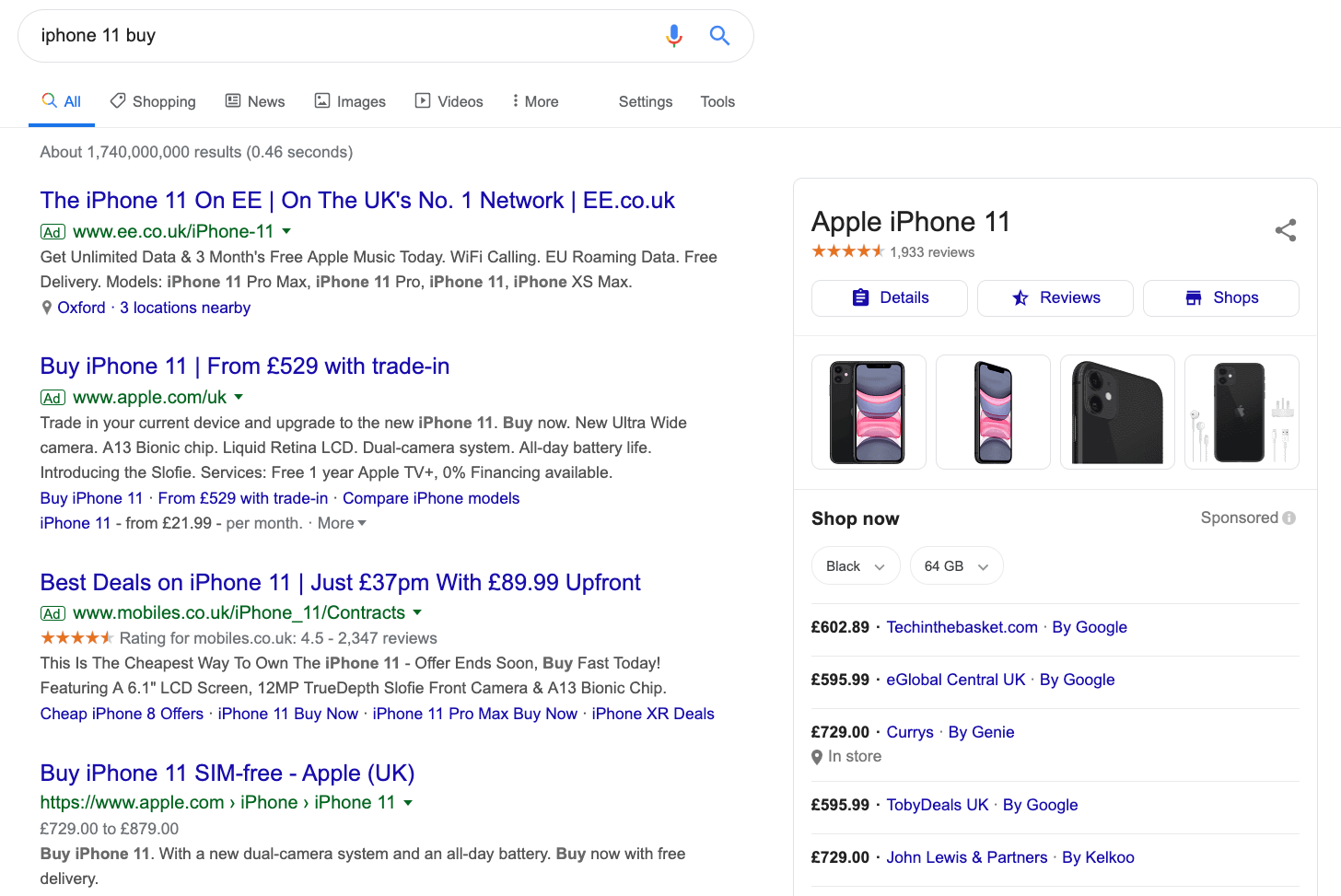 iphone 11 buy google search