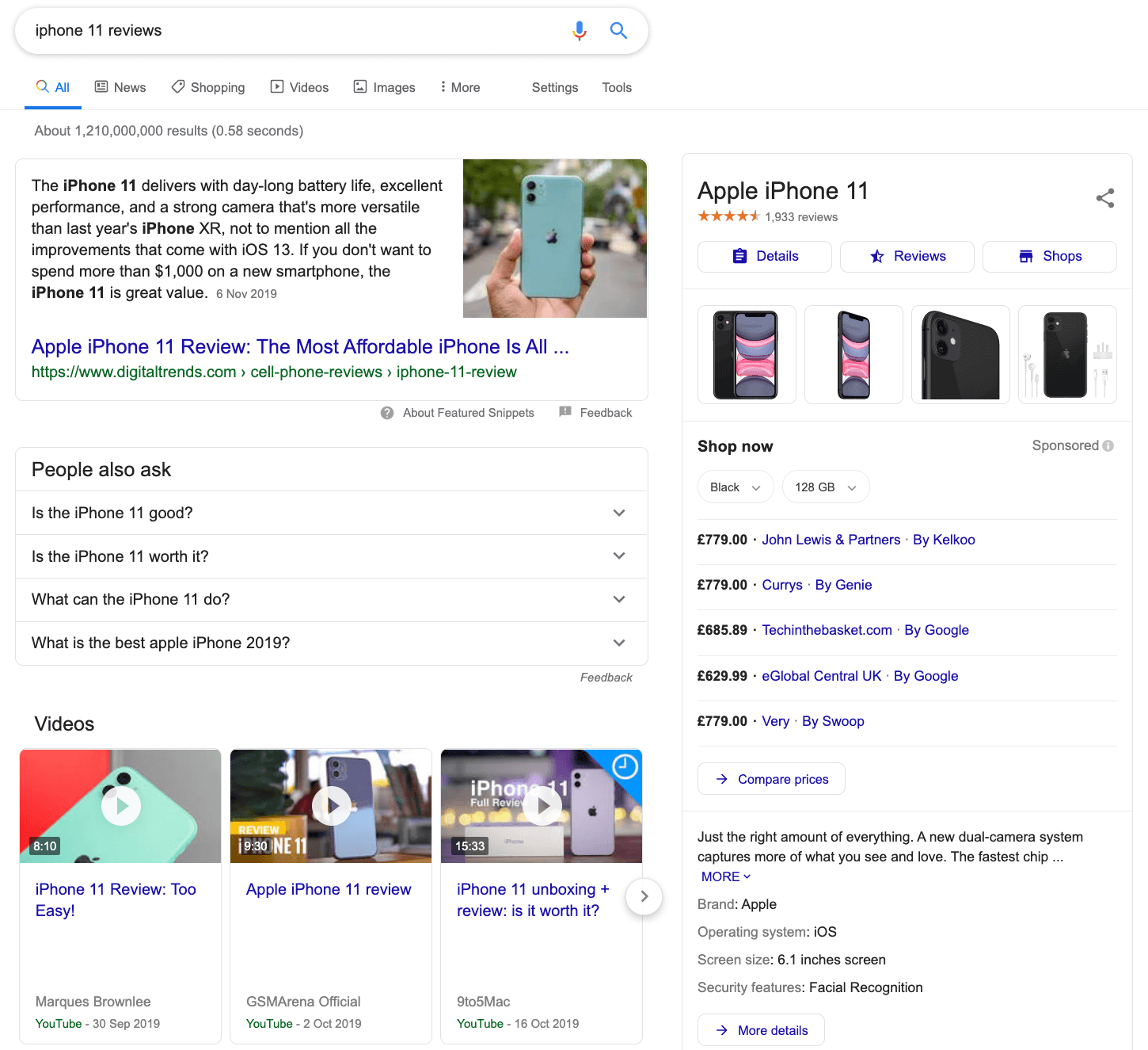 iphone 11 reviews google search