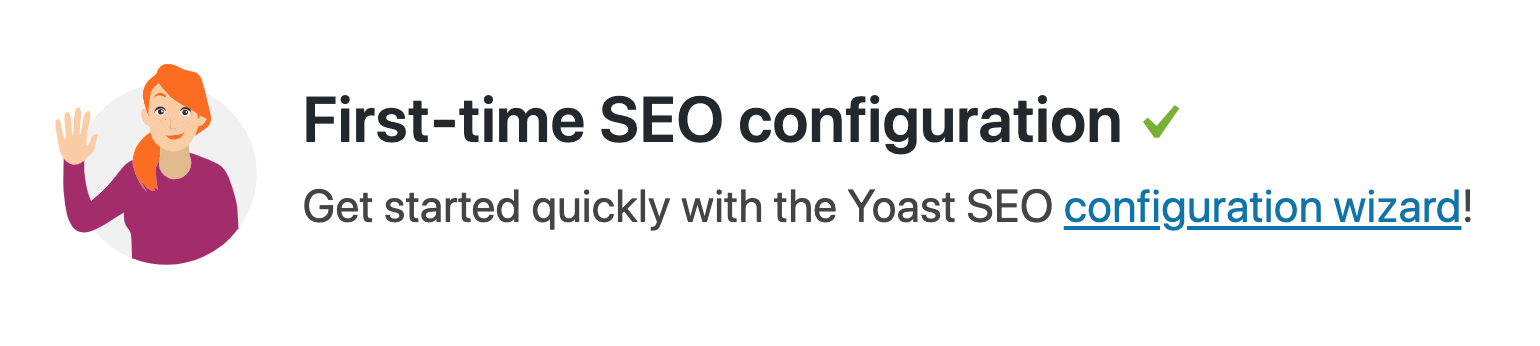 yoast seo first time configuration wizard notification